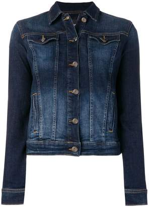Emporio Armani cropped stonewashed denim jacket