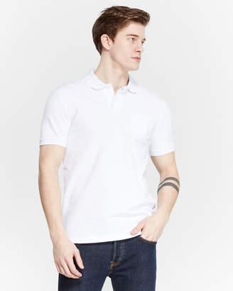 Versace White Two-Pocket Pique Polo