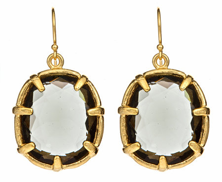 Gerard Yosca Black Diamond Pendant Earrings