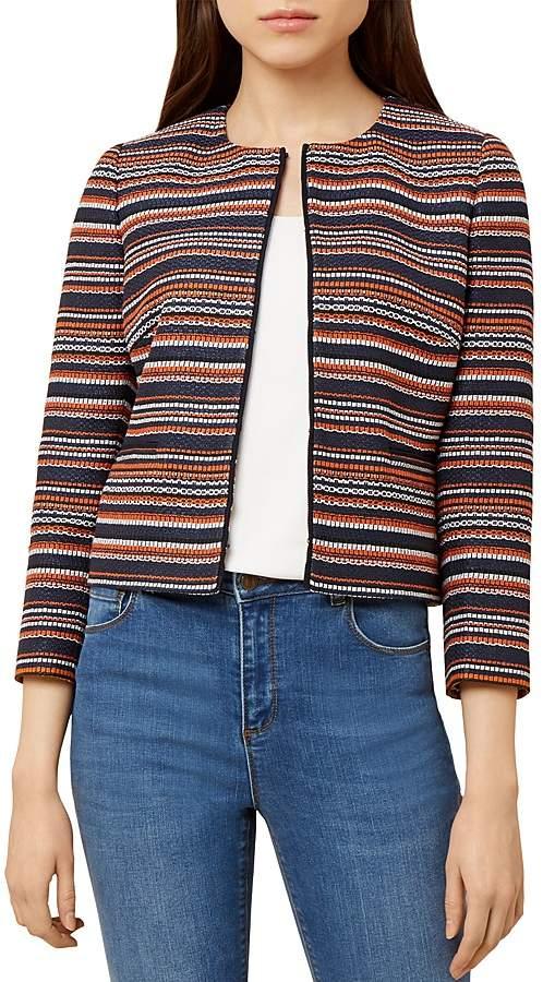 Hobbs London Tammi Striped Tweed Jacket