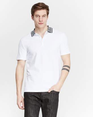Versace White Diamond Pique Polo