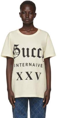 Gucci Beige Guccy Internaive XXV T-Shirt