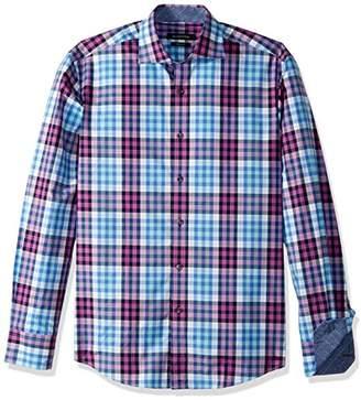 Bugatchi Men's Plaid Button Down Shirt