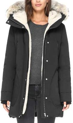 Soia & Kyo Saundra Fur Trim Hooded Down Coat