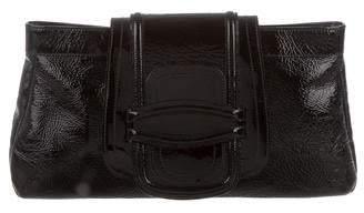 Oscar de la Renta Patent Leather Flap Clutch