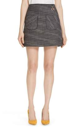 Ted Baker Shaula Colour by Numbers Boucle Miniskirt