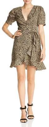 Aqua Leopard Print Wrap Dress - 100% Exclusive
