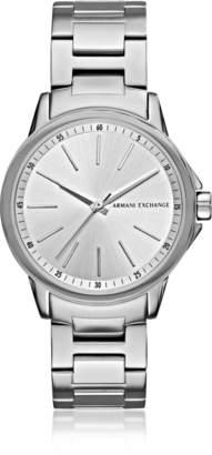 Armani Exchange Lady Banks Silver Tone Women's Watch