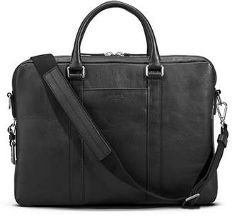 Shinola Men's Slim Leather Computer Briefcase