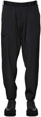 Yohji Yamamoto Wool Gabardine Pants W/ Elastic Waist