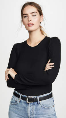 Goldie Ribbed Puff Shoulder Pullover