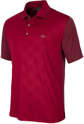 Greg Norman For Tasso Elba Men's Diamond-Embossed Golf Polo, Only at Macy's $55 thestylecure.com