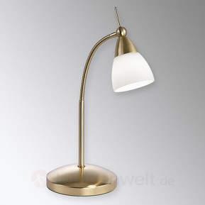 Messingfarbene LED-Tischlampe Pino mit Dimmer