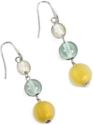 Antica Murrina Atelier Nuance - Grey & Amber Murano Glass Dangling Earrings $92 thestylecure.com