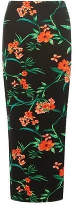 Dorothy Perkins Womens Black Floral and Tropical Print Maxi Skirt