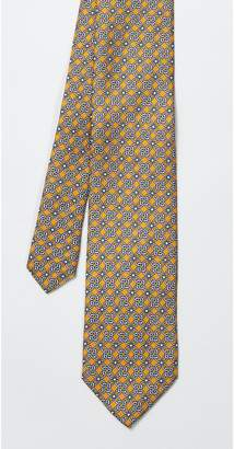 J.Mclaughlin Italian Silk Tie in Mini Circle and Squares