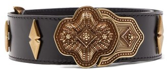 Etro Studded Leather Belt - Womens - Black
