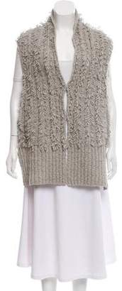 Marc by Marc Jacobs Fringe Cable Knit Sweater Vest