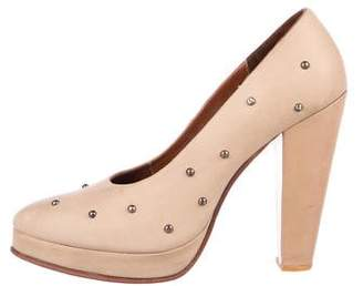 Rachel Comey Leather Studded Pointed-Toe Pumps