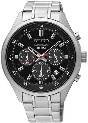 Seiko Limited Edition Men's Special Value Chronograph Stainless Steel Bracelet Watch 43mm