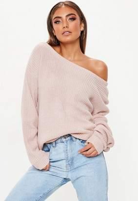 Missguided Rose Off Shoulder Sweater