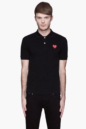 Comme des Garcons Black Red Logo Polo