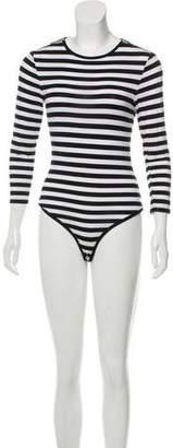 MICHAEL Michael Kors Striped Crew Neck Bodysuit
