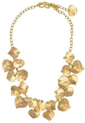 Kenneth Jay Lane Gold Leaf Necklace
