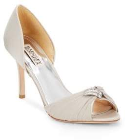 Badgley Mischka Jennifer Rhinestone-Embellished Peep Toe D'Orsay Pumps