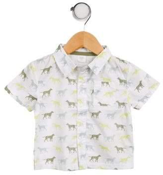 Egg Boys' Printed Button- Up Shirt w/ Tags