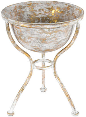 Gold Lustre Metal Footed Bowl with Stand
