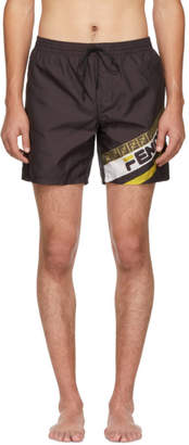 Fendi Black Mania Tech Swim Shorts