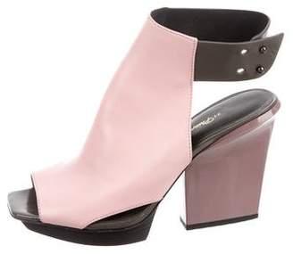 3.1 Phillip Lim Leather Cut-Out Sandals