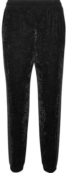 Splendid Satin-trimmed Velvet Track Pants