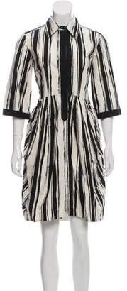 Hache Knee-Length Striped Dress