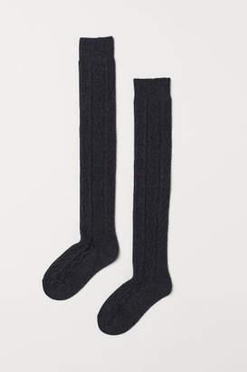 H&M Over-knee Socks - Black