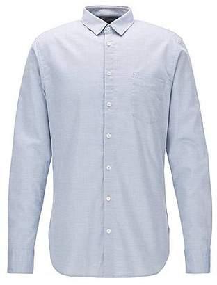 HUGO BOSS Slim-fit shirt in a mouliné cotton blend