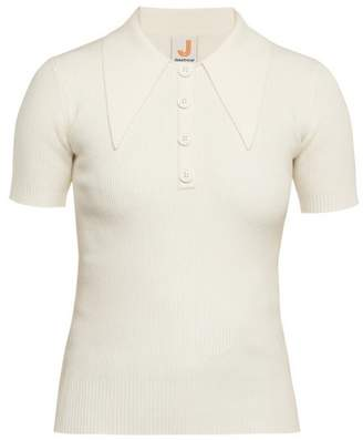 Joostricot - Knitted Polo Shirt - Womens - White