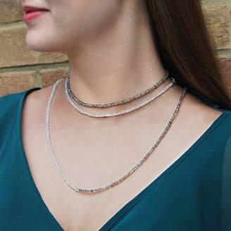 Embers Gemstone Jewellery Labradorite And Moonstone Single Gemstone Necklace