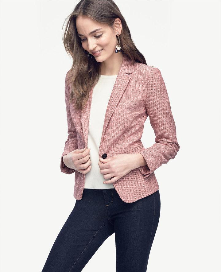Ann TaylorTweed Single Button Jacket
