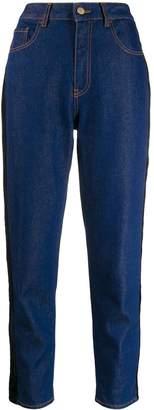 Just Cavalli velvet trim jeans