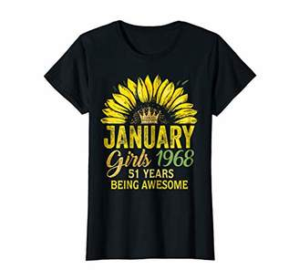 Womens January Girl Shirt January 1968 51 Years of Awesome