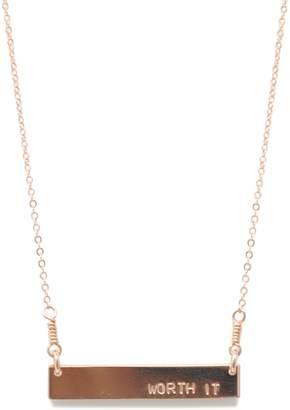 """Fashionable """"Worth It"""" Horizon Necklace"""