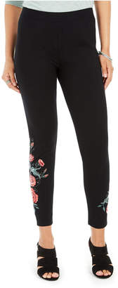 Style&Co. Style & Co Embroidered Pull-On Leggings