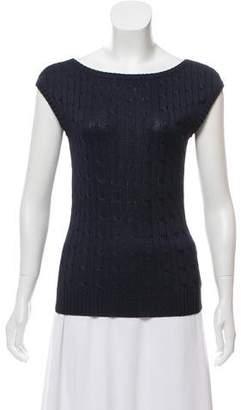 Ralph Lauren Silk Cable Knit Top
