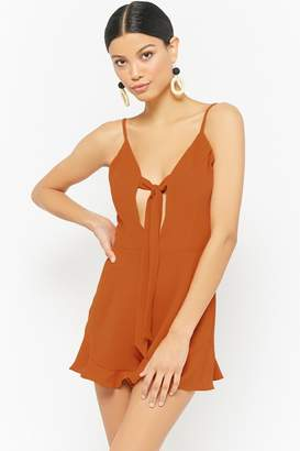 Forever 21 Chiffon Tie-Front Romper