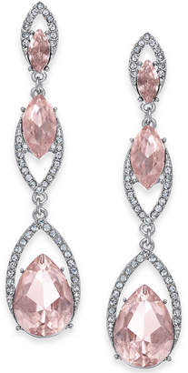INC International Concepts I.N.C. Gold-Tone Crystal & Stone Triple Drop Earrings, Created for Macy's