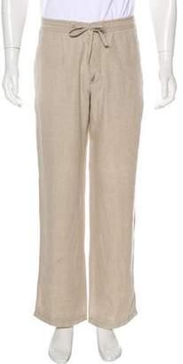 Armani Collezioni Linen Straight-Leg Pants
