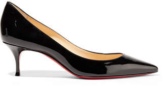 Christian Louboutin Pigalle Follies 55 Patent-leather Pumps - Black