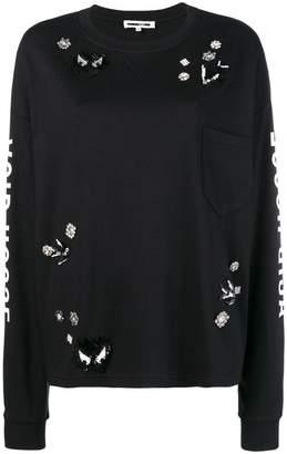 McQ shiny detailed sweatshirt